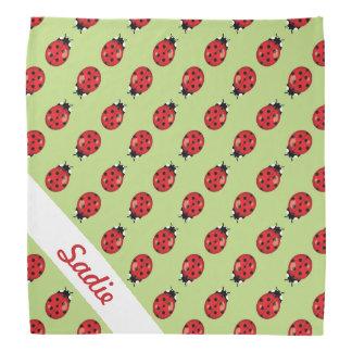 Bandana Teste padrão bonito vermelho dos joaninhas com