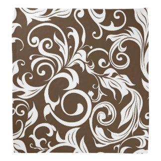 Bandana Teste padrão castanho chocolate elegante do papel