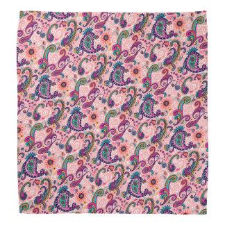 Bandana Teste padrão cor-de-rosa bonito de Paisley