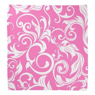 Bandana Teste padrão cor-de-rosa brilhante do papel de