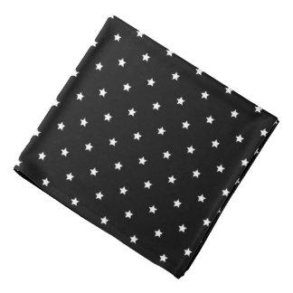 Bandana Teste padrão de estrelas preto e branco