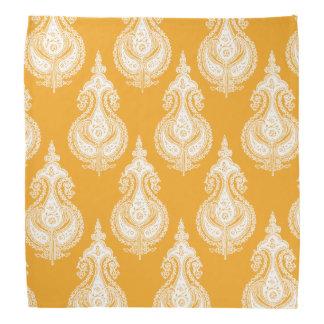 Bandana Teste padrão de paisley do amarelo alaranjado