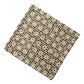 Bandana Teste padrão de ponto de Tan e do quadrado preto