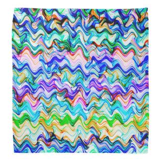 Bandana Teste padrão de ziguezague ondulado colorido legal