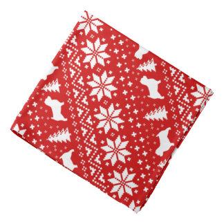 Bandana Teste padrão do Natal das silhuetas de Norwich