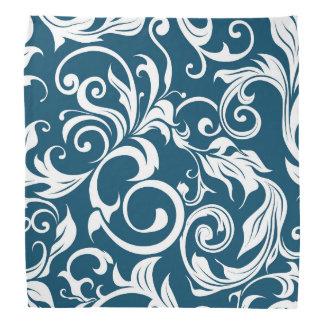 Bandana Teste padrão escuro do papel de parede floral de