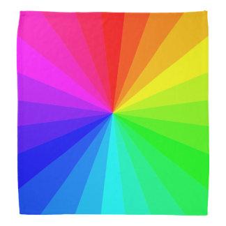 Bandana Teste padrão geométrico moderno do arco-íris do