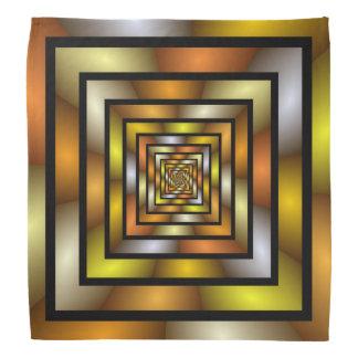 Bandana Teste padrão gráfico colorido do Fractal do túnel