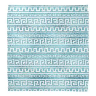 Bandana Teste padrão grego azul delicado do meandro no