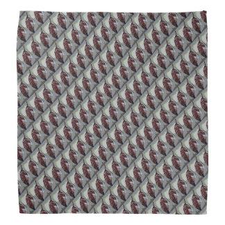 Bandana Teste padrão marrom da folha