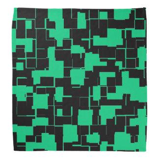 Bandana Teste padrão na moda verde e preto irlandês