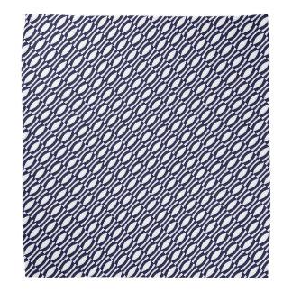 Bandana Teste padrão retro das listras onduladas azuis e