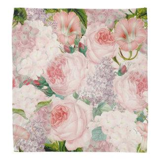 Bandana Teste padrão retro Painterly do primavera da flor