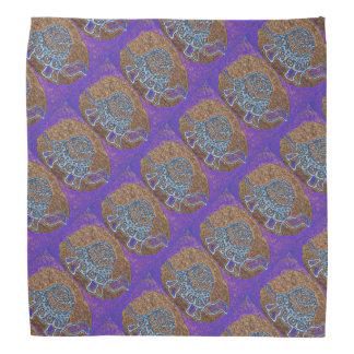 Bandana Teste padrão roxo da tartaruga