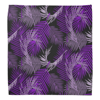 Bandana Teste padrão roxo das folhas de palmeira