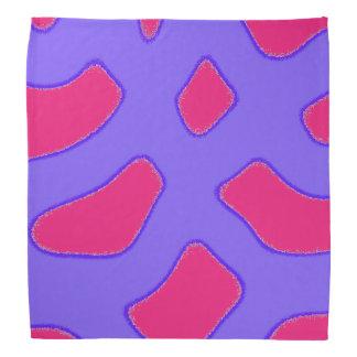 Bandana Teste padrão roxo e rosa vermelha tropical da