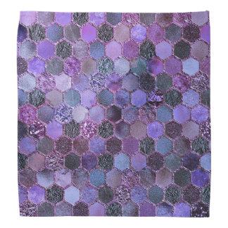 Bandana Teste padrão roxo luxuoso do favo de mel do brilho