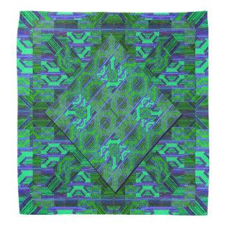 Bandana Teste padrão verde e azul