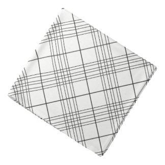 Bandana Teste padrão verificado preto e branco da xadrez