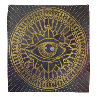 Bandana Todo o ouro místico de vista do olho no céu da