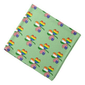 Bandana Trevo da bandeira do arco-íris do orgulho gay