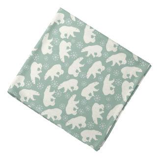 Bandana verde do inverno com ursos polares