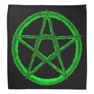 Bandana verde do Pentagram
