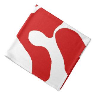 Bandana vermelho da camuflagem do NC do branco