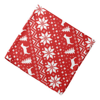 Bandana Vermelho diminuto do teste padrão do Natal dos