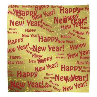 bandana vermelho do feliz ano novo