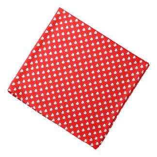 Bandana vermelho e branco do teste padrão de