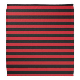 Bandana vermelho e preto das listras