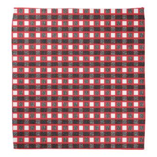 Bandana Weave estático vermelho, branco e preto