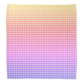 Bandana Xadrez do arco-íris