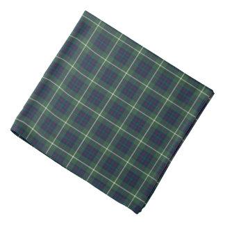 Bandana Xadrez verde e azul do Tartan da caça do clã de