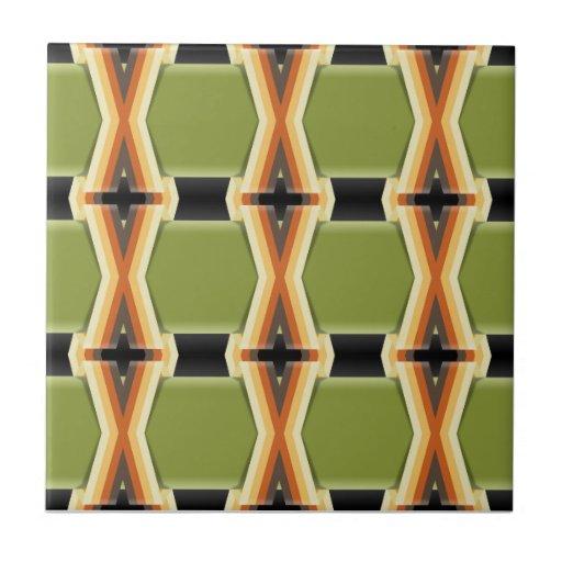 Bandas verdes trançadas azulejo