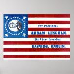 Bandeira 1860 da campanha presidencial de Abraham  Poster