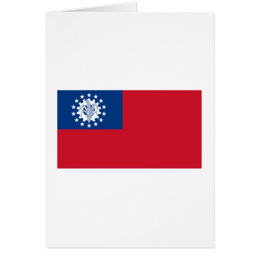 Bandeira 1974-2010 de Myanmar Cartoes