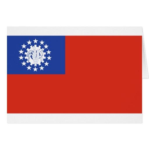 Bandeira 1974-2010 de Myanmar Cartões