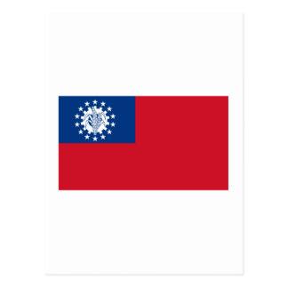 Bandeira 1974-2010 de Myanmar Cartão Postal