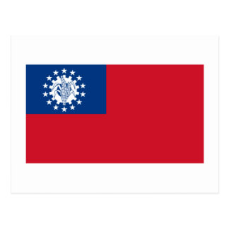 Bandeira 1974-2010 de Myanmar Cartao Postal