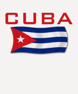 Bandeira 1 de Cuba Camisetas