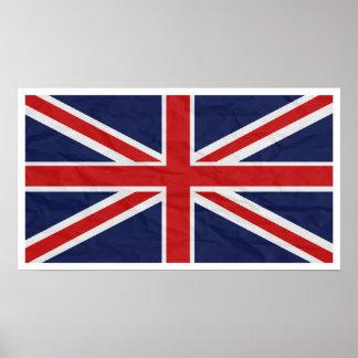 """Bandeira 24"""" de Reino Unido Union Jack"""" poster Pôster"""
