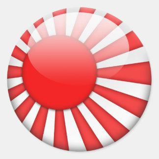 Bandeira 2,0 de Japão Adesivo Em Formato Redondo