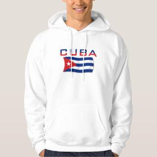 Bandeira 2 de Cuba Moleton Com Capuz