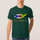 Bandeira 2 de Puerto Rico e de Jamaica Camiseta