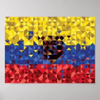 Bandeira abstrata de Equador, república do poster