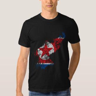 Bandeira afligida Coreia do Norte Camiseta