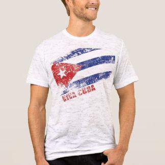 Bandeira afligida Cuba de Viva Camiseta