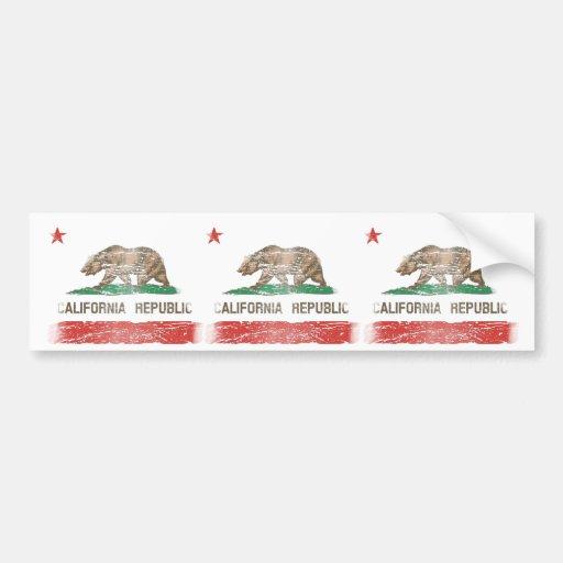 Bandeira afligida da república de Califórnia Adesivos